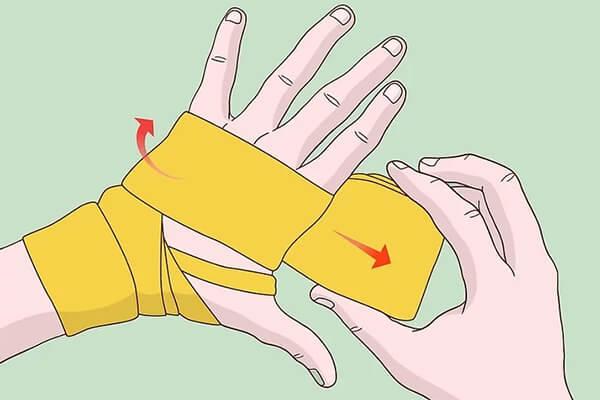 cách quấn băng tay boxing