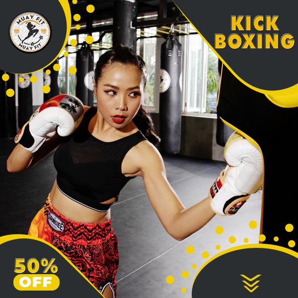 học kick boxing. tập kick boxing