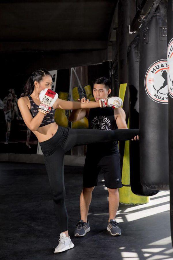 tập kick boxing, học kick boxing